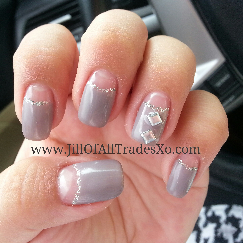 Grayed Violet Half Moon Nails Jill Of All Trades Xo